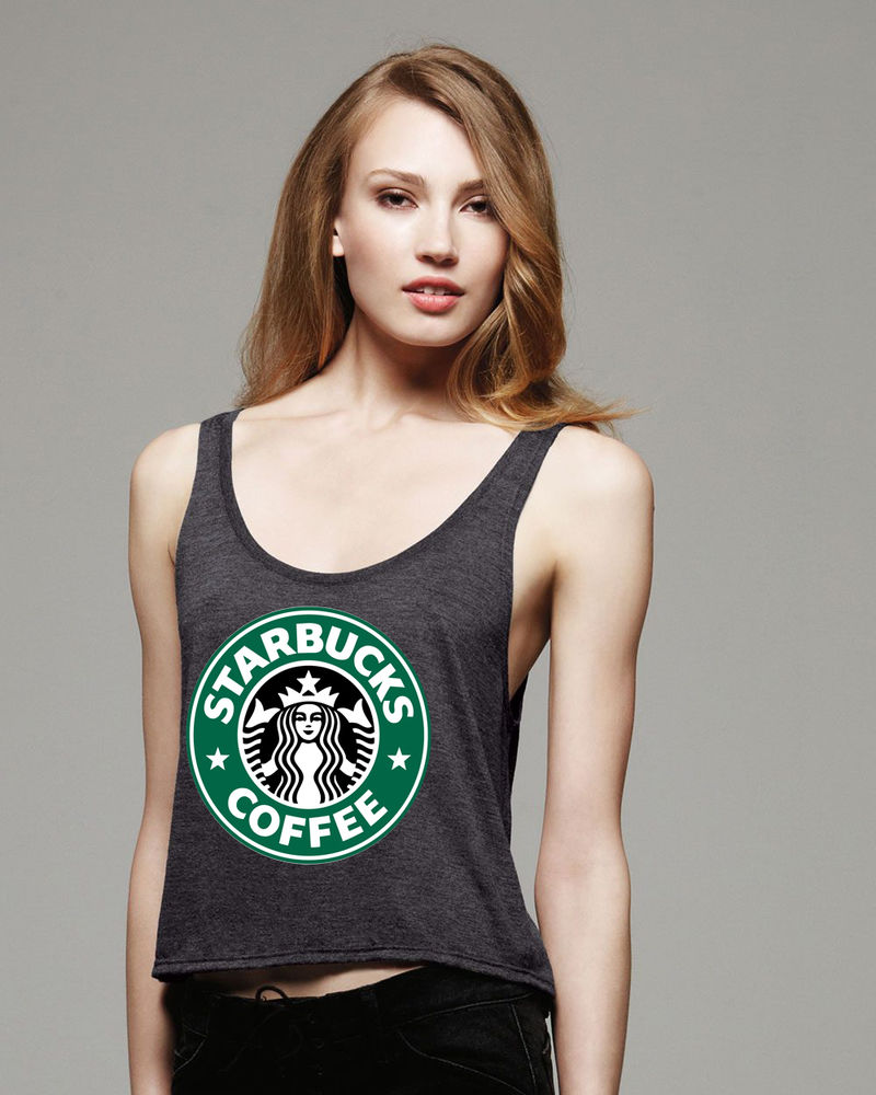 New Women Boxy Tank Top Shirt Starbucks Coffee Very Nice Quality Size s XL T8 | eBay