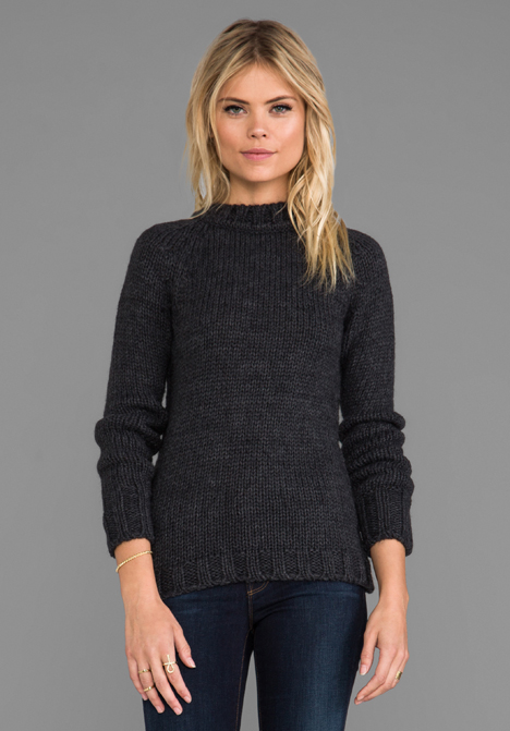 ANINE BING Wool Sweater in Charcoal - ANINE BING
