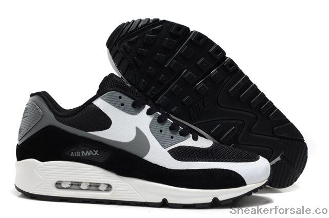 Buy Authentic Black/White-Cool Grey Nike Air Max 90 Hyperfuse Premium On Cheap Original Air Max 90 Hyperfuse Mens Online Shop