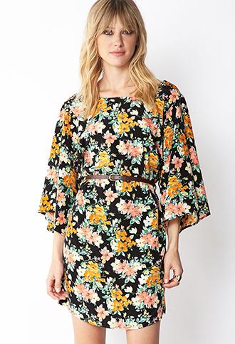 Whimsical Belted Shift Dress | FOREVER21 - 2000072303