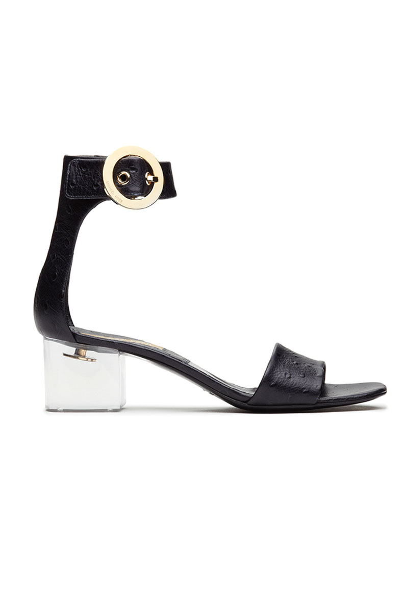 Michael Kors Embossed Ostrich Mid-Heel Sandals - Spring 2013 Shoe Trends - ELLE