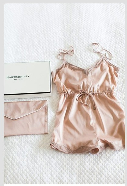 pajamas lingerie pastel pink romper peach nude underwear sexy