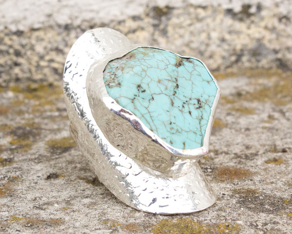 jewels silver turquoise ring