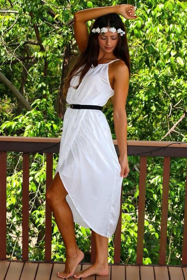 dress white clothes cute dress