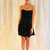 Cute Little Black Dress, Strapless Black Mini, Black Velvet Mini Dress - METROmorphos