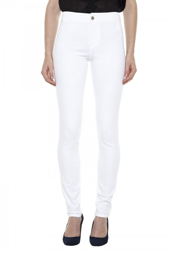 The BODYCON Jean - HIGH RISE, SKINNY LEG - Power White - MiH Jeans