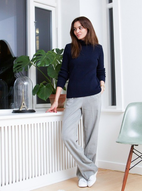 by funda blogger pants grey comfy shoes jewels