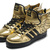 Charming Adidas Originals x Jeremy Scott JS Wings 2.0 Gold Black popular shoes that charming and well-known