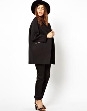 ASOS | ASOS Cocoon Coat With Zip Detail at ASOS