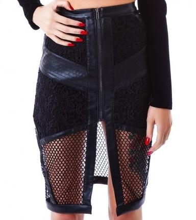Leather Floral Skirt   Raggedy Endz