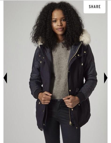 coat parka girly
