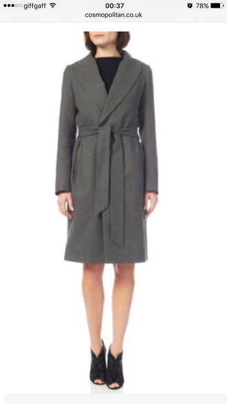 coat black wrap wrap coat smart brand cotton wool black coat smartcasual savvy smart cool