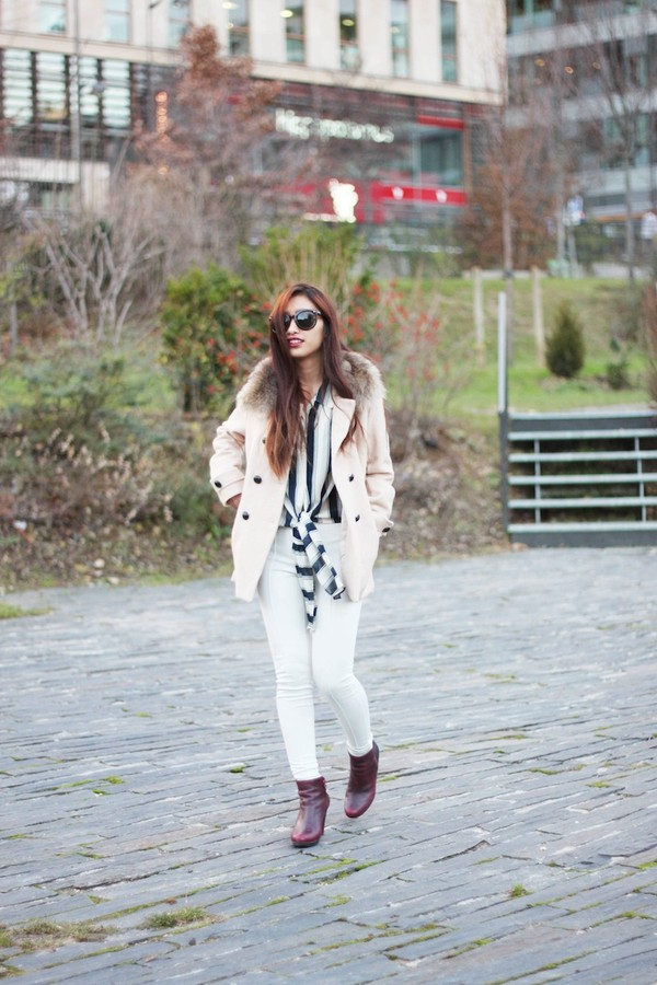 rosapels blog coat t-shirt pants shoes