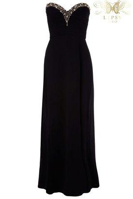 Lipsy VIP Embellished Bandeau Maxi Dress - ShopStyle