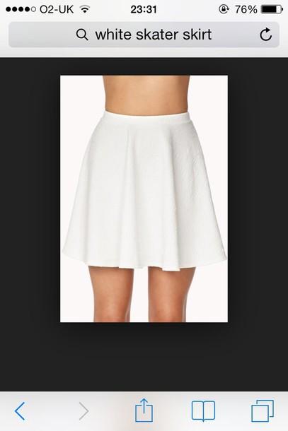 skirt white skater skirt