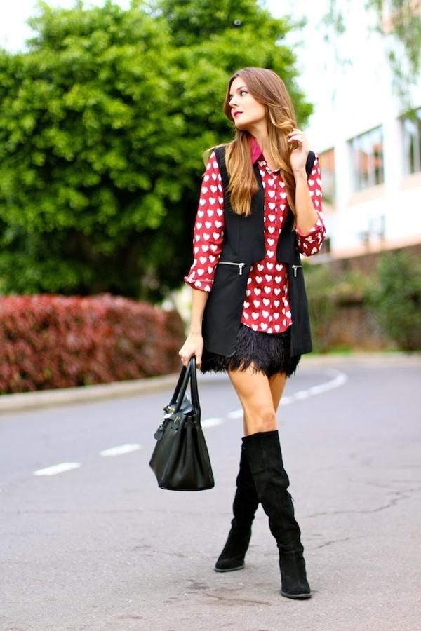 marilyn's closet blog blouse shoes jacket skirt bag