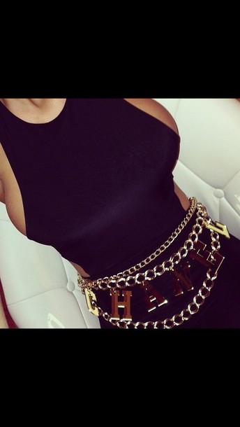 belt chanel gold sequins