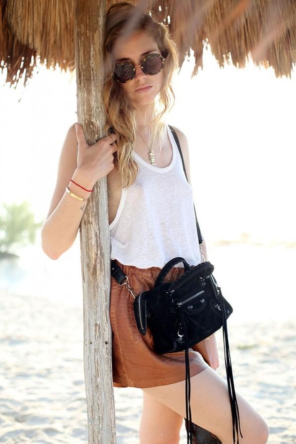the blonde salad shoes shorts tank top t-shirt jewels bag sunglasses