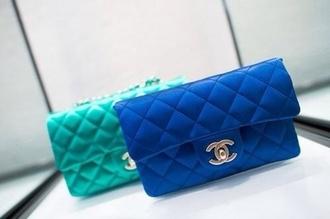 bag blue bag blue clutch cobalt blue cobalt chanel