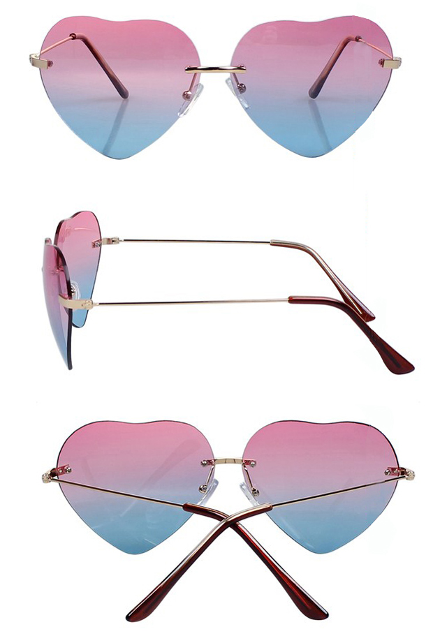 Gradient Color Heart Sunglasses [gl00059] - PersunMall.com