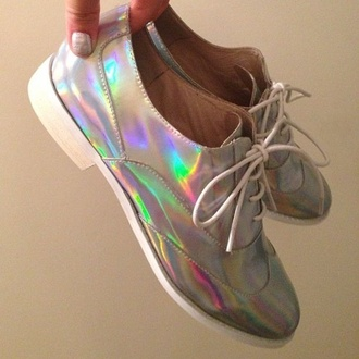 shoes oxfords holographic