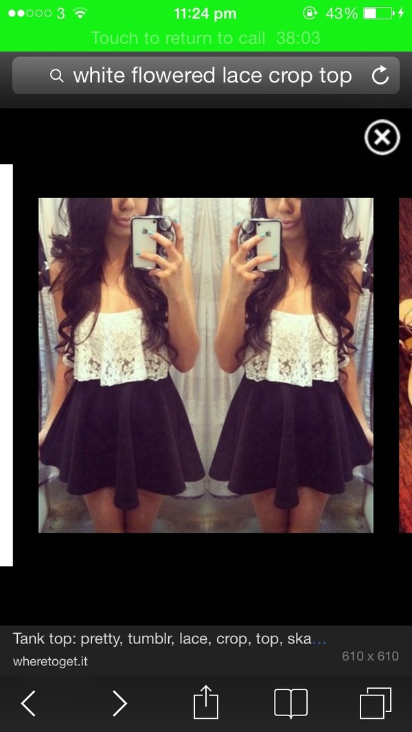 t-shirt crop tops tank top lace white shorts skirt