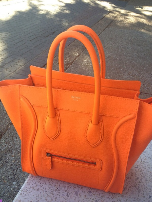 bag orange celine paris orange bag