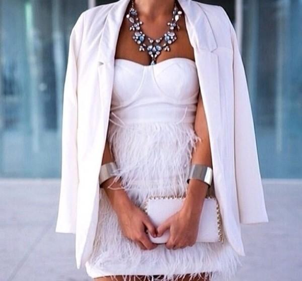 dress white dress jewels