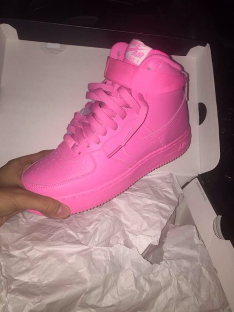 shoes nike air force 1 sneakers all pink