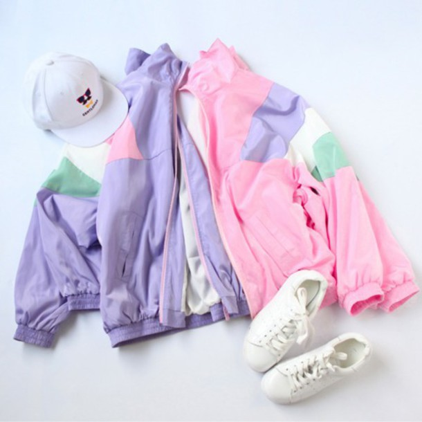 Jacket Cute Hipster Pants Spring Summer Pastel