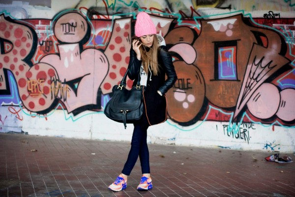 scent of obsession coat sweater jeans shoes bag