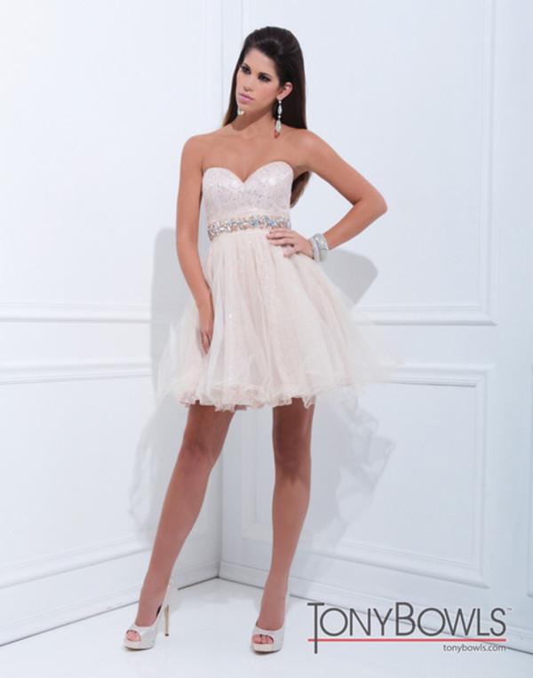 dress dress prom dress fashion prom love white glitter glamour party dress mini dress homecoming dress