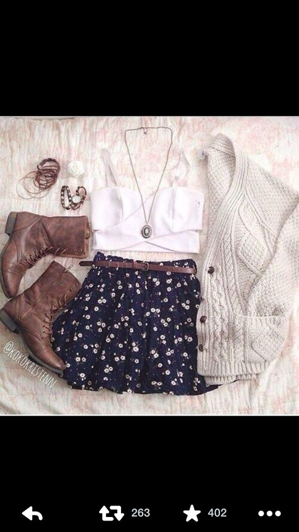 tank top boots bralette hipster cardigan cardigan shoes crop tops white summer boho tumblr hipster combat boots jewelry shorts sweater