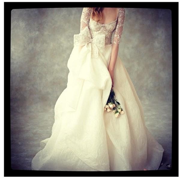 dress bows wedding dress sleeves