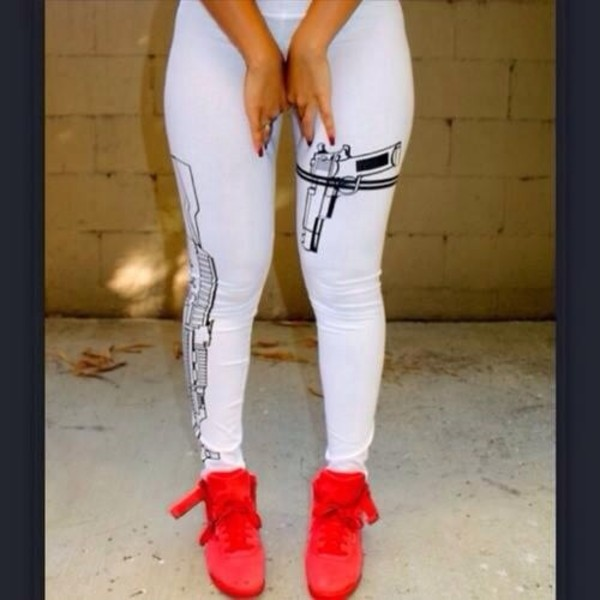 pants leggings white leggings