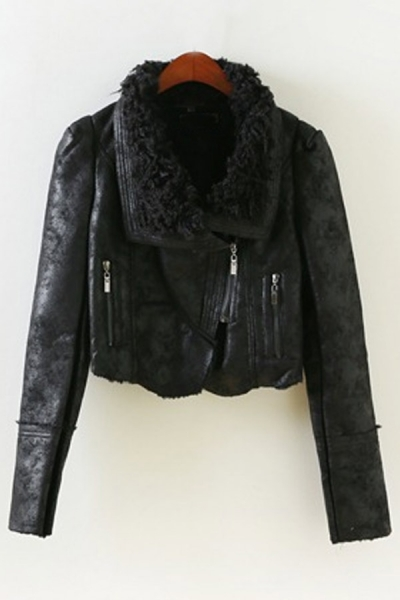 Street-chic Cropped Jacket - OASAP.com