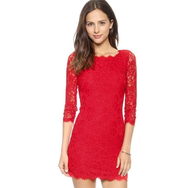 dress bodycon dress red dress red red bodycon dress red bodycon lace dress lace red lace dress red lace sleeves sleeved dress three-quarter sleeves