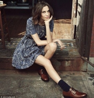 shoes brogue leather shoes brogue shoes alexa chung preppy indie hipster lace-up shoes printed dress dress print oxfords