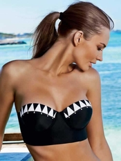 Pily Q Diamond Bralette Banded Full Bikini - Elite Fashion Swimwear