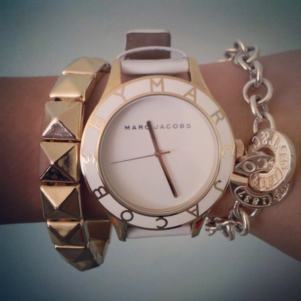 jewels watch watch marc jacobs white white watch