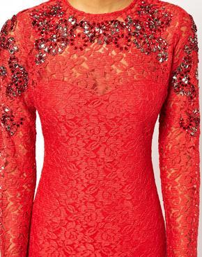 ASOS | ASOS Embellished Lace Midi Dress at ASOS