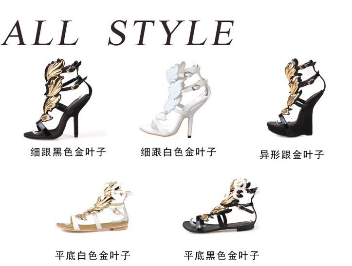 2013 summer designer gold and black flat sandals gladiator style sexy sandals shoes woman size 35 41 Free Shipping-in Sandals from Shoes on Aliexpress.com