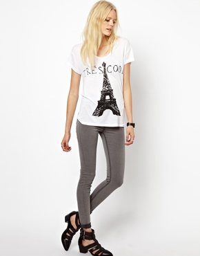 Just Female | Just Female Stroke Powerstretch High Waist Skinny Jeans at ASOS