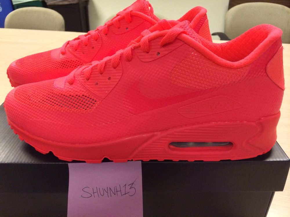 all red nike air max 90 hyperfuse