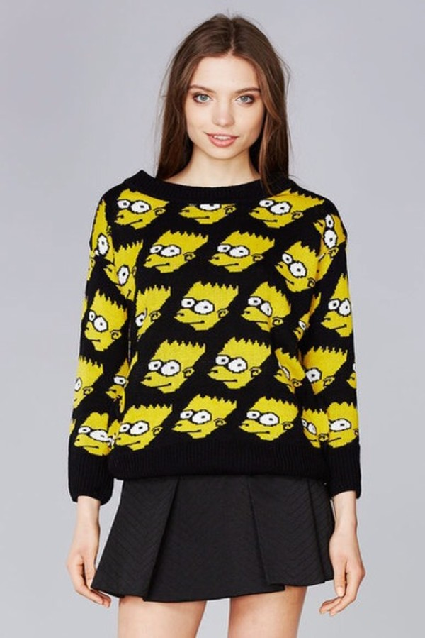 sweater yellow the simpsons bart simpson