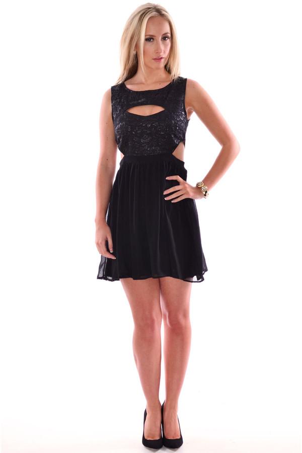 dress baroque dress sheer back cut-out dress skater dress sleeveless dress