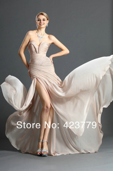 Aliexpress.com : Buy Newest Fashion Miranda Kerr Dark Red Celebrity Dress Sexy V neck Side Slit Prom Dress 2013 Long from Reliable prom dresses prom dresses suppliers on 27 Dress