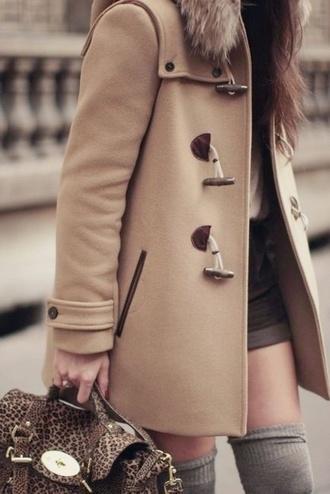 jacket outerwear coat bag duffle coat sandy coat sandy brown beige coat fur classic camel coat beige khaki coat trench coat