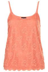scallop lace vest  - Topshop