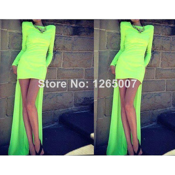 Aliexpress.com : Buy 2014 Spaghetti Traps Golden Beaded Diamond Crystal Green Front Short Evening Dress Kaftan Arabic Special Occasion Dress from Reliable dresses dress up suppliers on SFBridal